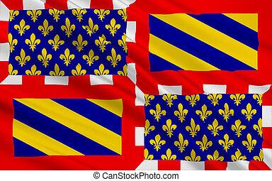 Flag of Burgundy the region of east-central France