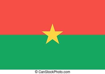Flag of Burkina - Faso