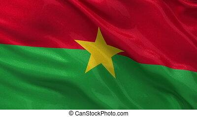 Flag of Burkina Faso seamless loop