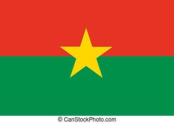 Flag of Burkina Faso. Vector illustration.