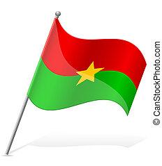 flag of Burkina Faso vector illustration