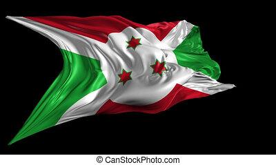 Flag of Burundi - Beautiful 3d animation of Burundi Flag...