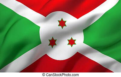 Flag of Burundi blowing in the wind