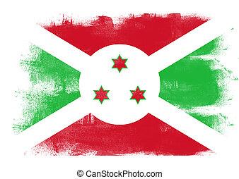 Flag of Burundi painted with brush