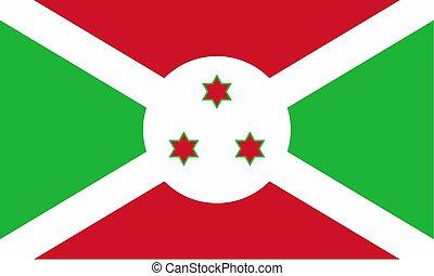 Flag of Burundi Vector illustration eps 10