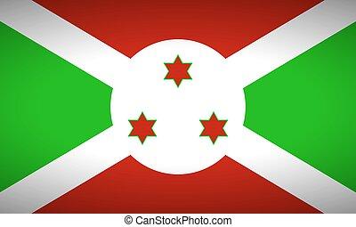 Flag of Burundi.