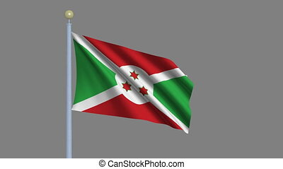 Flag of Burundi with alpha matte