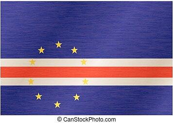 Flag of Cabo Verde. Illustration over white background