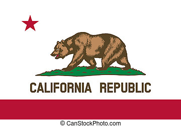 Flag of California correct size color illustration