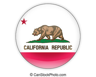 Flag of california, US state icon