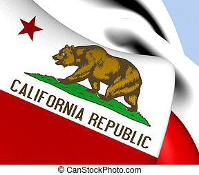 Flag of California, USA.