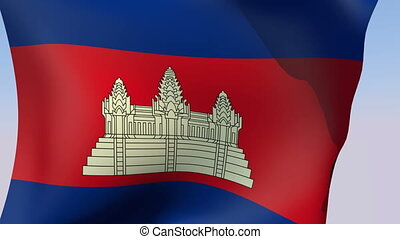 Flag of Cambodia - Flags of the world collection - Cambodia