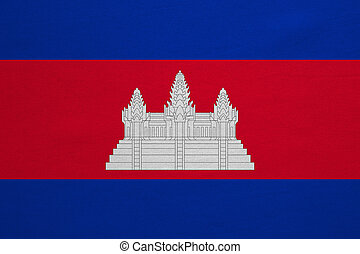 Flag of Cambodia real detailed fabric texture