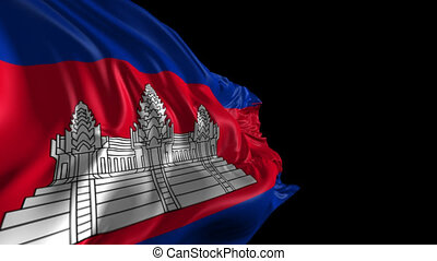 Flag of Cambodia - Beautiful 3d animation of Cambodia Flag...