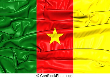 Flag of Cameroon. 3D Illustration.