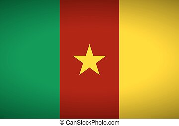 Flag of Cameroon.