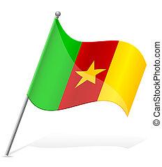 flag of Cameroon vector illustration