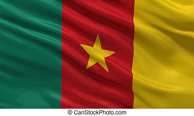 Flag of Cameroon waving in the wind