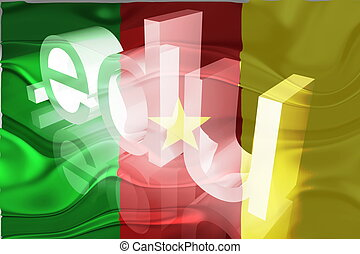 Flag of Cameroon wavy education - Flag of Cameroon, national...