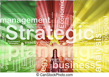 Flag of Cameroon, national country symbol illustration wavy business strategic planning