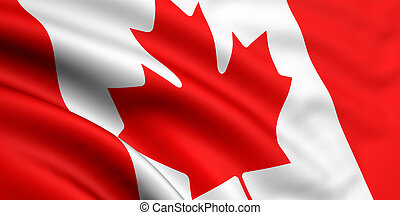 Flag Of Canada - 3d rendered and waving flag of canada