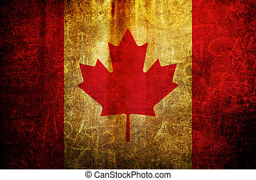 Flag of Canada - An old grunge flag of Canada state