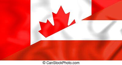 +++Flag of Canada and Austria