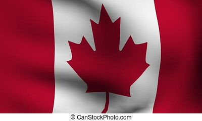 flag of canada in animation