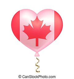 Flag of Canada in heart shape.