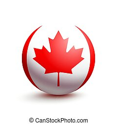 Flag of Canada in the form of a ball