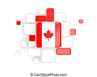 Flag of canada, mosaic background