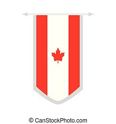 Flag of Canada on a banner