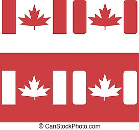 flag of canada red maple leaf vector design template