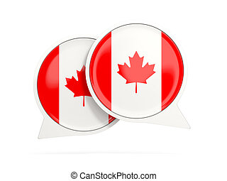 Flag of canada, round chat icon