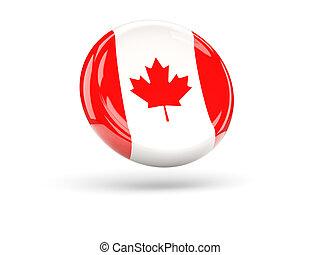 Flag of canada. Round icon