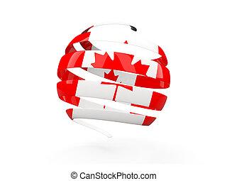 Flag of canada, round icon