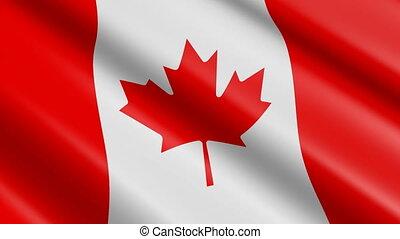 Flag of Canada (seamless loop)