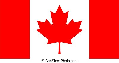 flag of Canada. Vector illustration