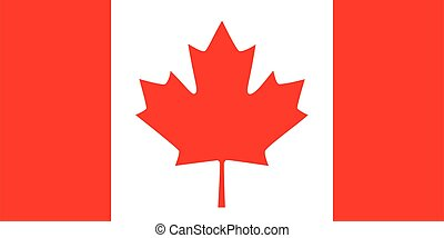 Flag of Canada vector illustration