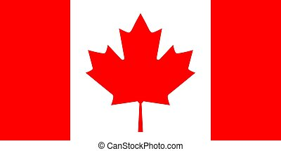 Flag of Canada, vector illustration.