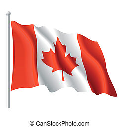 Flag of Canada - Vector illustration of flag of Canada