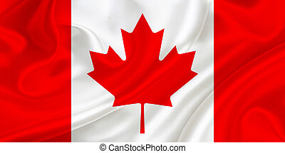 Flag of Canada waving in the wind