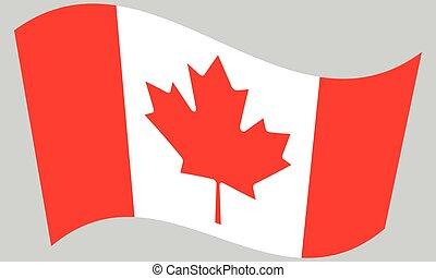 Flag of Canada waving