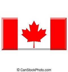 Flag of Canada with 3D border