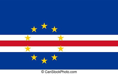Flag of Cape Verde vector illustration