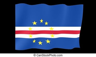 Flag of Cape Verde. Waving flag
