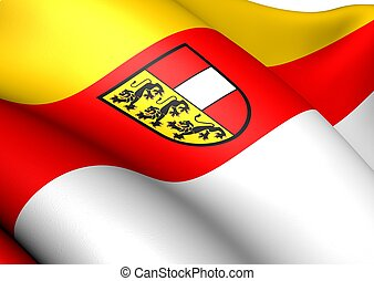 Flag of Carinthia, Austria. Close Up.
