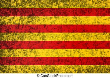 Flag of Catalonia.