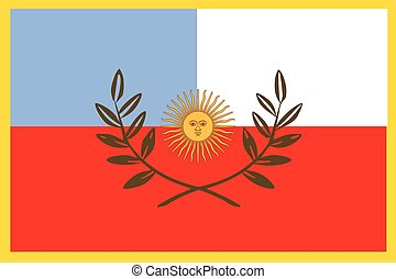 Flag of Catamarca Province, Argentina. Vector Format