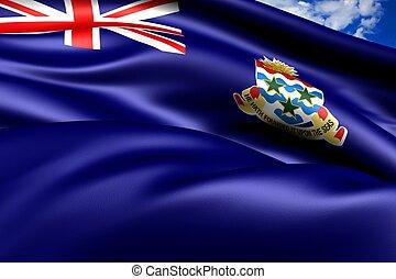 Flag of Cayman Islands. Close Up.